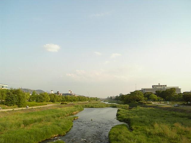 鴨川、夕景