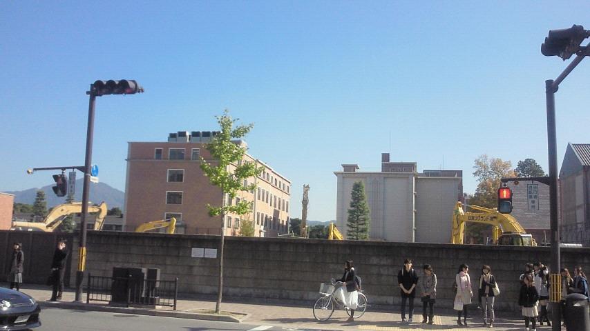 同志社中学校跡に広がる青空