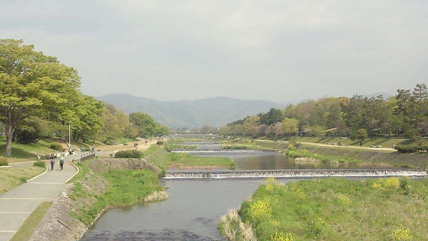 北大路橋から、賀茂川