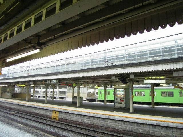 京都駅のホーム